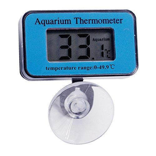 OBELLA BOUTIQUE 10pcs Digital Submersible Fish Tank Aquarium water LCD display portable suction Thermometer temperature temp accurate tester 10%