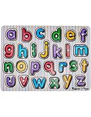 Melissa & Doug See-Inside Alfabet Houten Peg Puzzel (Frustratievrije verpakking)