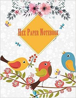 amazon hex paper notebook cute white garden 1 4 inch hexagons