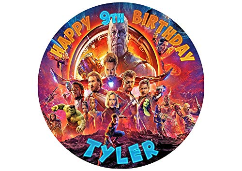 - Avengers Infinity War Edible Cake Topper Personalized Birthday 8