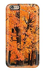 For AnnaSanders Iphone Protective Case, High Quality For Iphone 6 Orange Leaves Earth Autumn Nature Autumn Skin Case Cover
