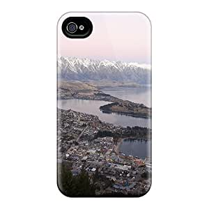 meilz aiaiFor Maria N Young Iphone Protective Case, High Quality For Iphone 4/4s Panoramic Town Lake Skin Case Covermeilz aiai