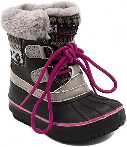 LONDON FOG Girls Toddler Tottenham Cold Weather Snow Boot