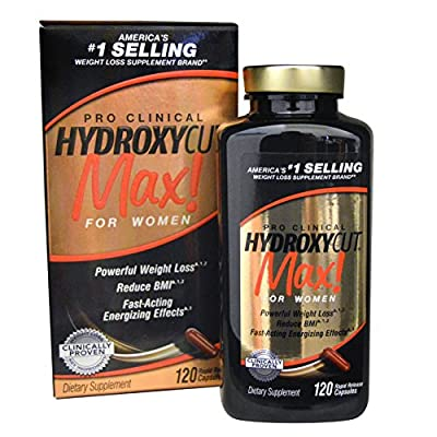 Hydroxycut Pro Clinical Max For Women -- 120 Rapid Relase Capsules (Pack of 1)