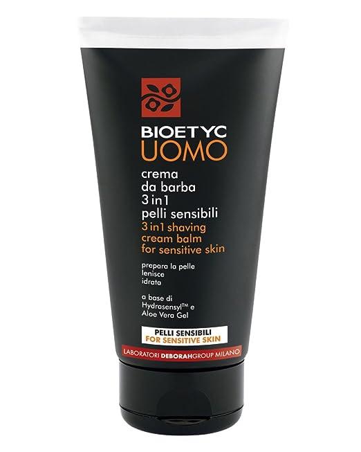 10 opinioni per Bioetyc Uomo Crema da Barba 3in1 Pelli Sensibili, 150 ml
