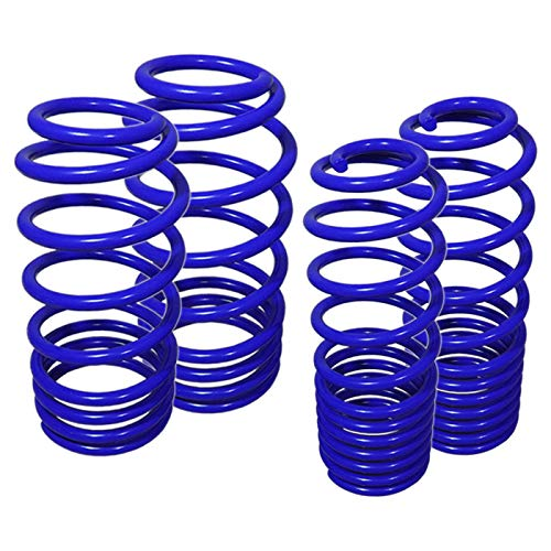 Fit 2005-2010 Ford Mustang Suspension Lowering Spring Blue (V6 Drop Front -1.1