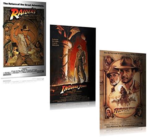 Amazon.com: Indiana Jones I, II, III Juego de – Póster de la ...