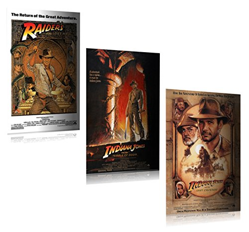 Indiana Jones I, II, III - Movie Poster Set