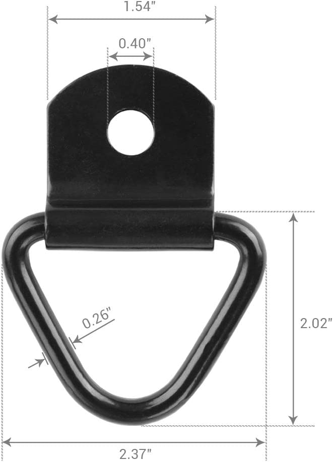 MNJ Motor 6PCS Tie Down Anchors 2 inch Diameter V-Ring Cargo Tie-Downs Bolt-on Trailer Anchor Replacement for D-Ring Flush Mount Pan Fitting Tiedown for Trailers Truck ATV UTV