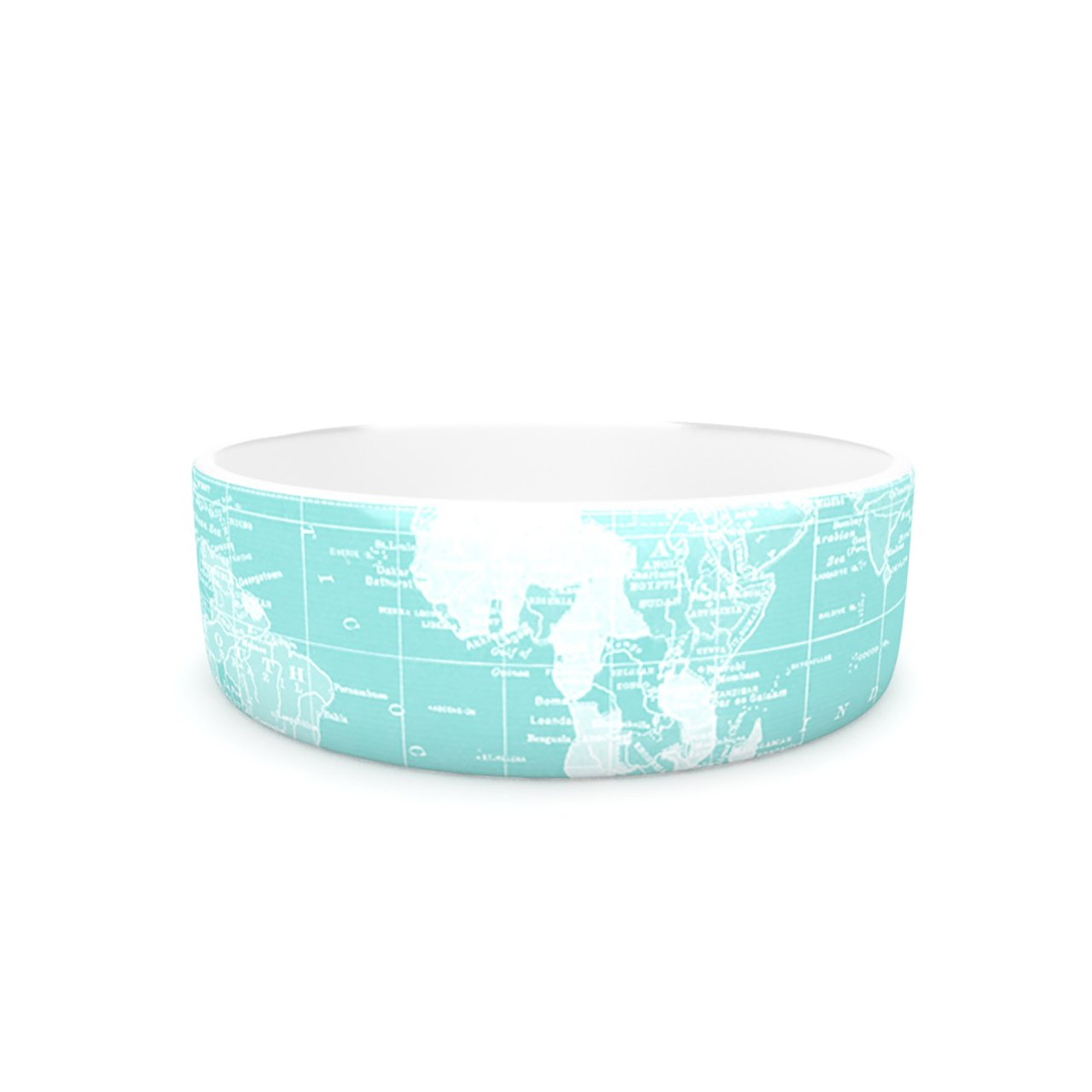 Kess InHouse Catherine Holcombe Welcome to my World  Pet Bowl, 7-Inch