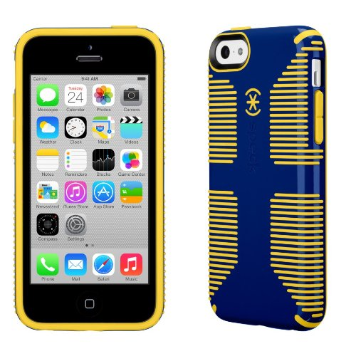 Speck Products CandyShell Grip Case for Apple iPhone 5C - Retail Packaging - Blue/Yellow (Iphone 5c Att Case)