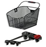 KlickFix rear basket Rixen & Kaul City Max basket for Racktime black