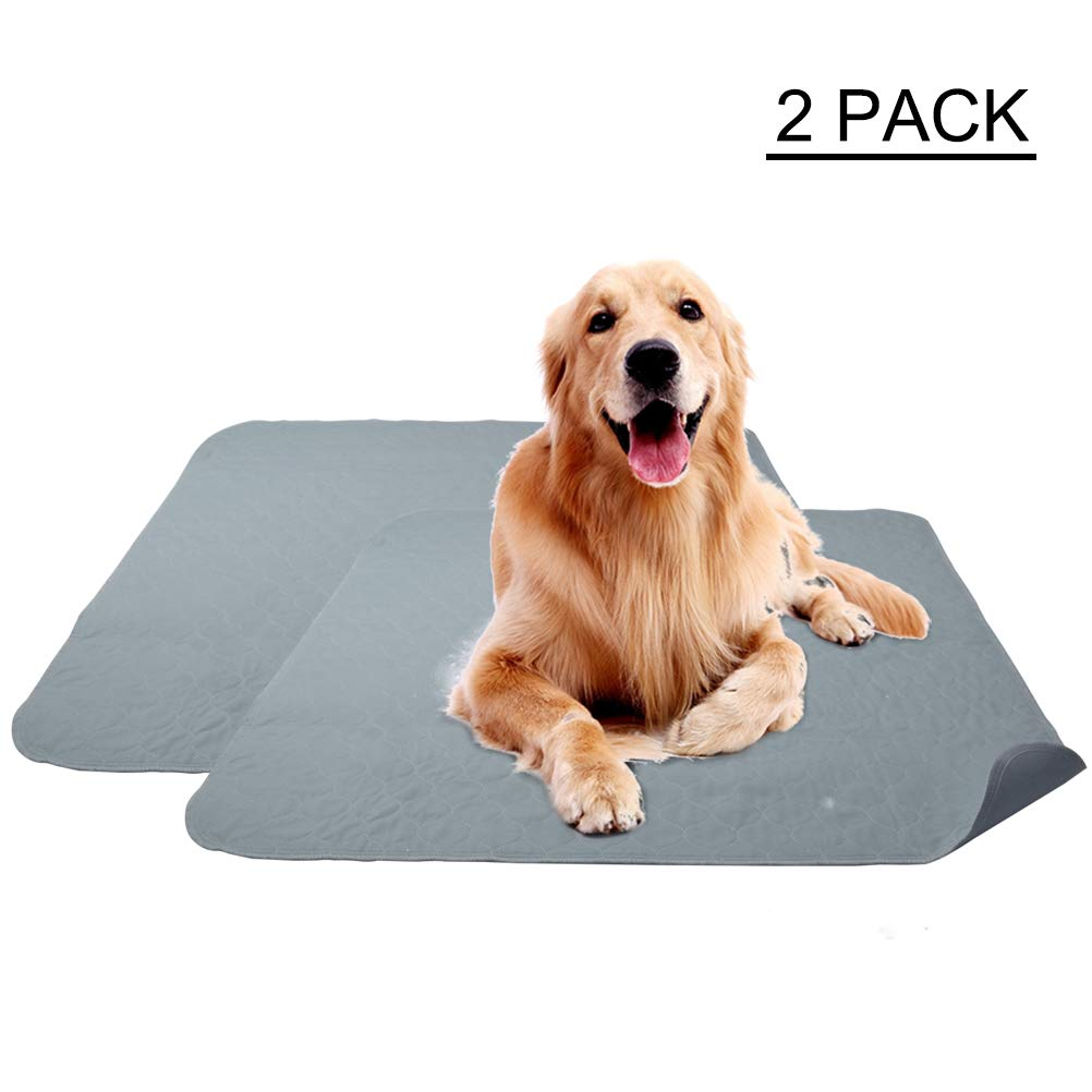 OFPUPPY 2 Pack Washable Puppy Pee Pads - Dog Training Pads Anti-Slip Super Absorbent Pets Large 36 x 34