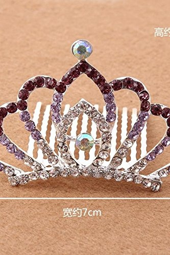 Generic Crown Princess children every day special chain diamond tiara girls hair accessories baby hairpin children hairpin Korea by Generic (Image #1)