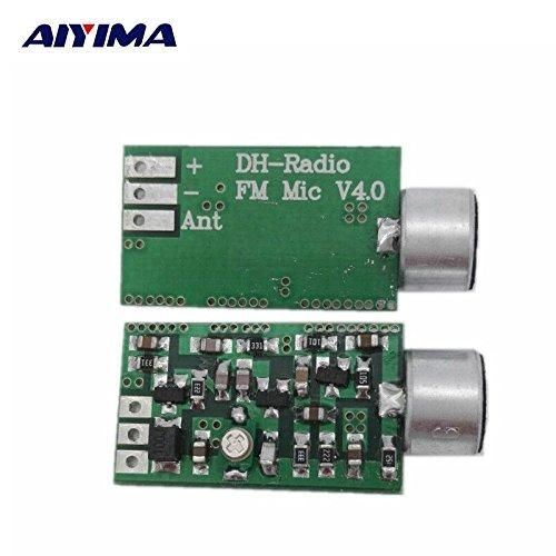 HATCHMATIC AIYIMA Mini FM Microphone FM Transmitter Module MIC Wireless Audio Transmitter 100MHz Mini Bug Wiretap Dictagraph Interceptor