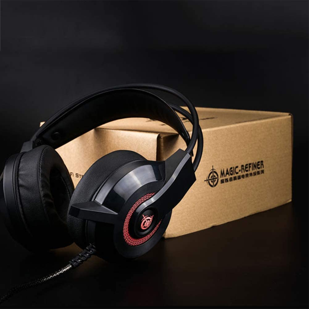 PS4,Noise Cancelling Microphone-Black Gaming Headset Over-Ear Headphones Hi-Fi Stereo for PC Xbox One/¹