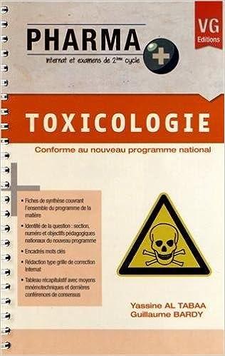 Livres gratuits en ligne Toxicologie pdf epub
