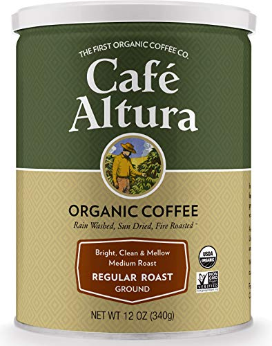 Cafe Altura Ground Organic Coffee, Regular Roast, 12 Ounce (Pack of 3) from Cafe Altura