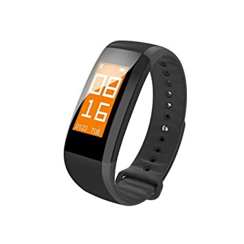 Para Android iOS M99 impermeable Bluetooth inteligente reloj pulsera Monitor de frecuencia cardiaca, negro: Amazon.es: Deportes y aire libre