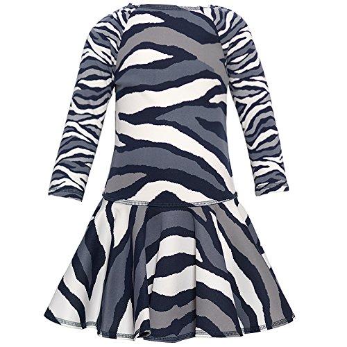 Kate Mack Girl's 2-6X Wild Streak Scuba Dress, Navy - Size 5