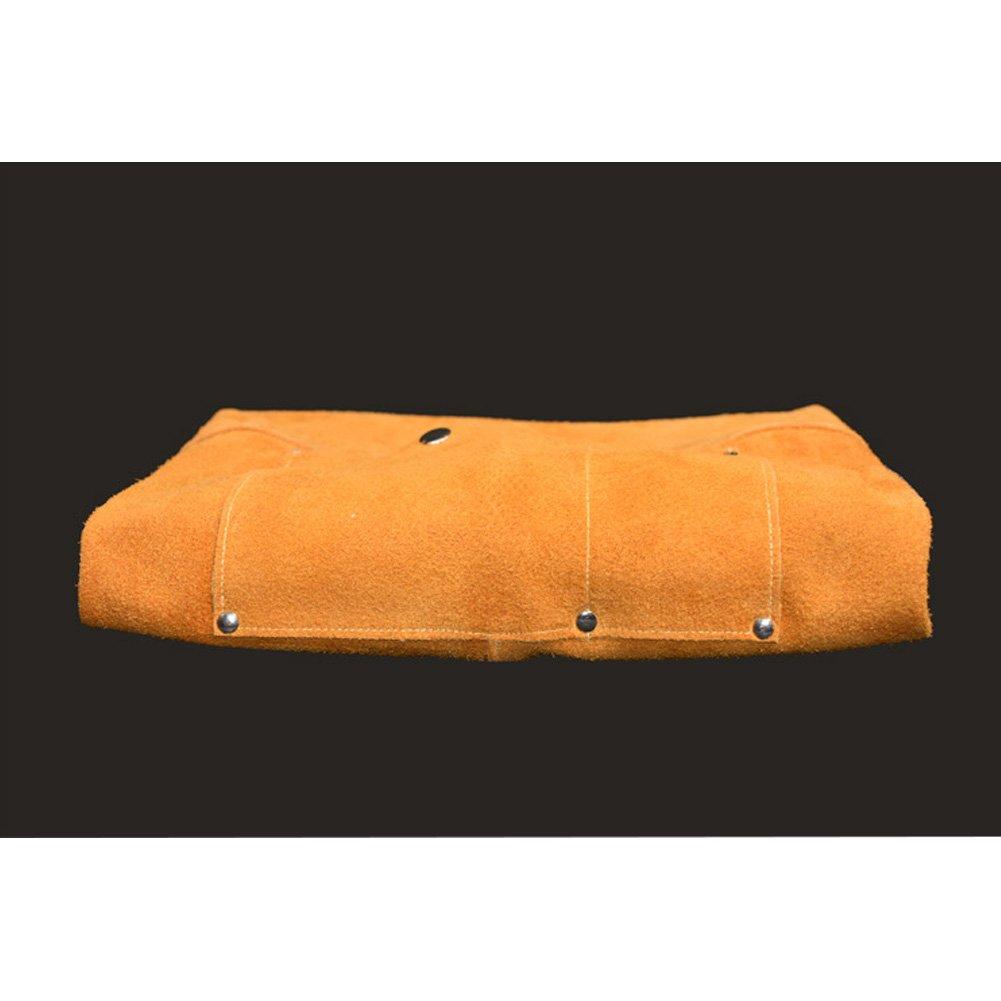 Delantal de soldadura de cuero de utilidad con 2 herramientas de bolsillo apto para hombres y mujeres de 60 x 89 cm (CYWQ05): Amazon.es: Bricolaje y ...