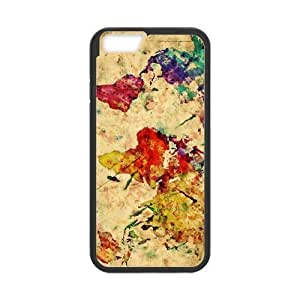 Custom Vintage Retro Classic Watercolor Map of the World iPhone 4 4s Case Cover - Fit Iphone 4 4s Cell Phone