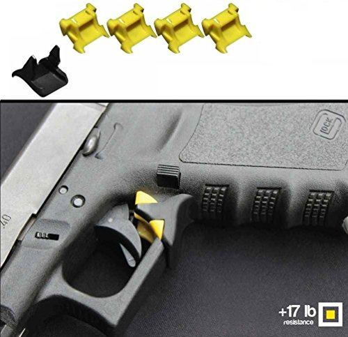 Price comparison product image Safe-Draw Guard Lock Kit for Handguns Pistols Glock 17 - 41 - 1 Lower Base Block + 4 Upper Yellow 17 lb Pressure Weights