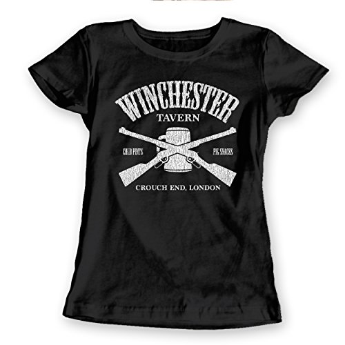 Winchester Tavern Shaun of The Dead Pub Zombie Womens Shirt Medium Black