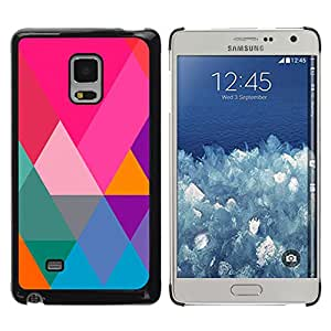 MOBMART Carcasa Funda Case Cover Armor Shell PARA Samsung Galaxy Mega 5.8 - Vibrant Colors In Triangles