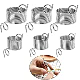 VintageBee 6 Pack 2 Size Metal Yarn Guide Finger Holder Knitting Thimble for Crochet Knitting Crafts Accessories Tool: more info