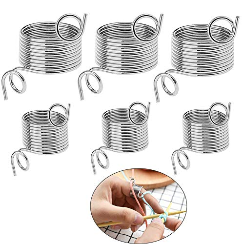 Size Metal Yarn Guide Finger Holder Knitting Thimble for Crochet Knitting Crafts Accessories Tool ()