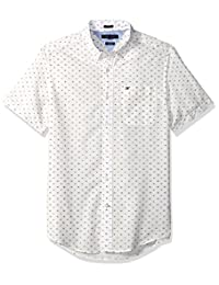 Tommy Hilfiger Mens Standard Curtis Print Short Sleeve Shirt