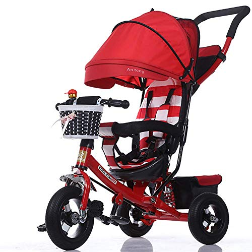 GHDE& Kids Trike for Children with Sun Canopy, Back Storage and Removable Parent (Best Joe's Usa Baby Strollers)