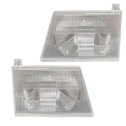 Koolzap For 97-07 E-Series Van Headlight Headlamp Head Light Lamp Left & Right Side SET PAIR ()