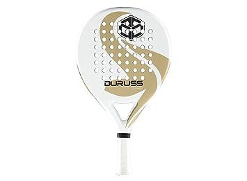 Duruss Scampini Limited Edition - Pala de pádel para Hombre, Color Blanco/Dorado: Amazon.es: Deportes y aire libre