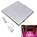LED Grow Light, Aceple Plant Light White Red Blue Growing Lights Square Panel for Garden Greenhouse and Hydroponic Indoor Plants, Promotes Plant Growth Hanging Lighting Fixture(with Cable and Plug, PN-45W)