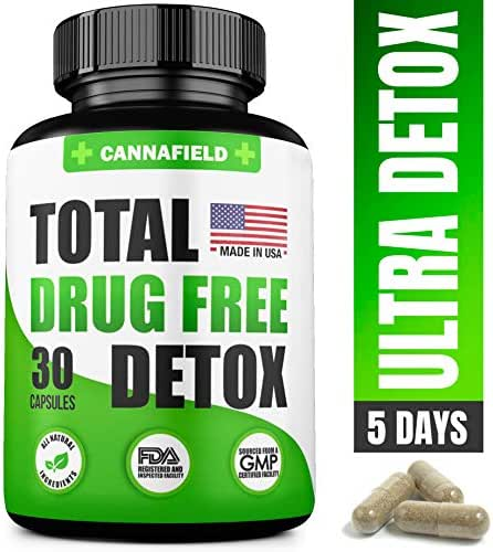 Detox and Liver Cleanse - USA Made - 5-Days Detox - Natural Toxins Remove – Best Detox Pills to Pass Test - Premium Detox Supplement - 30 Capsules