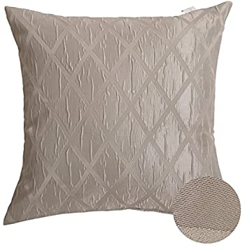 deconovo jacquard weave rhombic pattern throw cushion cover square design pillow case decorative pillows for sofa