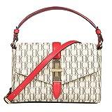 JOLLYCHIC CHCH Signature Leather Party Crossbody Bag Satchel Handbag (Red)