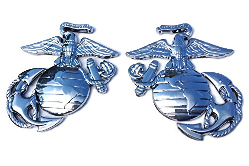 USMC EGA x 2 Eagle Globe Anchor Decal Sticker Emblem for Car Truck Auto (Usmc Globe And Anchor)