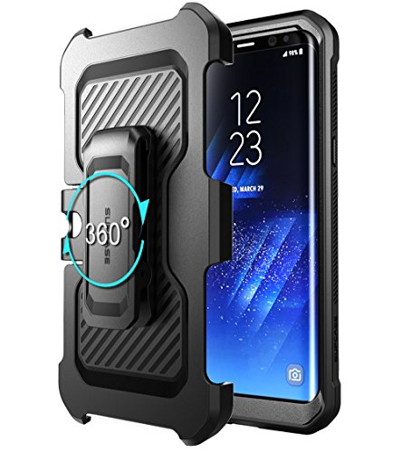 SUPCASE Galaxy S8 Case Full-body Rugged Holster Case WITHOUT Screen Protector for Galaxy S8 (2017 Release), Unicorn Beetle PRO Series - Retail Package (Black/Black) by SUPCASE (Image #6)