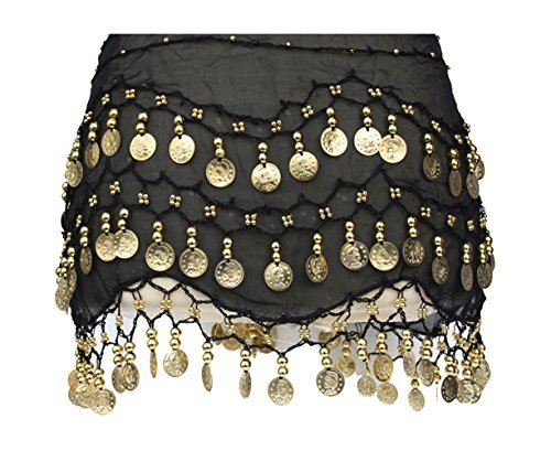 Belt oro Monedas monedas negro express con Dance de 3 Belly A filas qxwBtpgZS