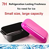Cold Fresh Lunch Box Containers ; Leakproof Meal Prep Container,Long-Term Cooling Moveable Freezer,Orange