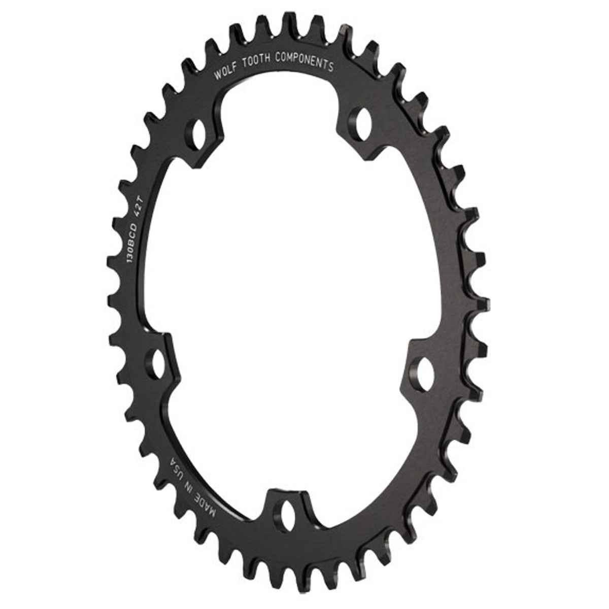 Wolf Tooth Road &シクロクロスドロップ停止Chainring B00MYJ3O2G 44t|110BCD 5-ボルト 44t