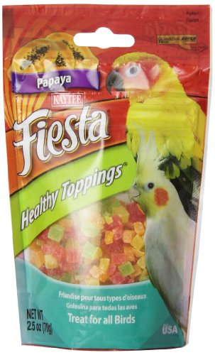 Kaytee 2.5-Ounce Fiesta Healthy Toppings Papaya for Birds