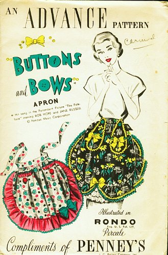 advance-buttons-and-bows-apron-one-size-distributed-by-jc-penney-company-vintage-1940s
