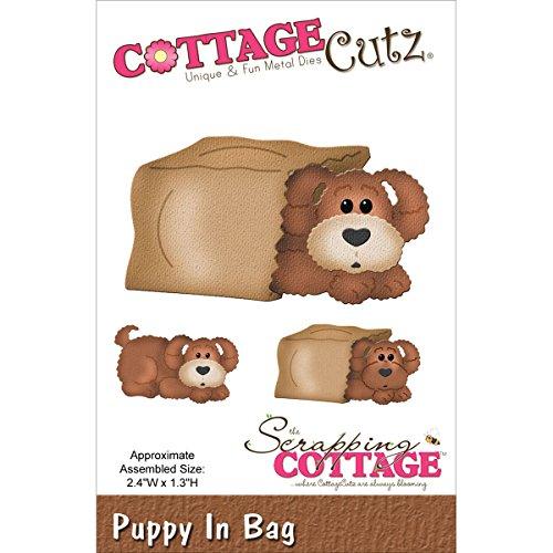 Wood Die Cut - CottageCutz in The Woods Puppy in Bag Die