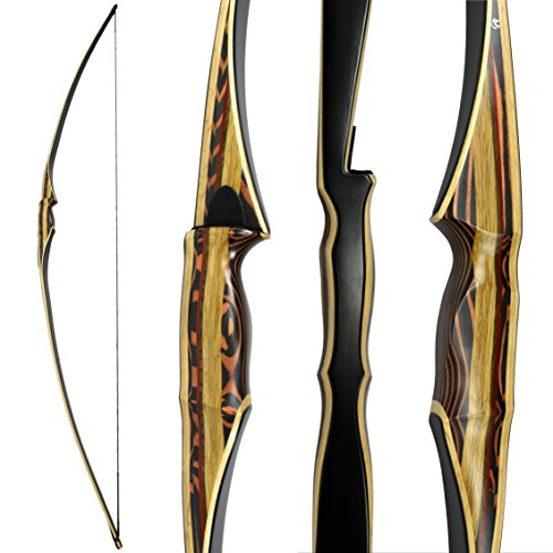 Scorpion Longbow by Southwest Archery USA |LIMITED TIME SALE| available with Stringer Tool | weights 25-60 lb | LEFT and RIGHT HANDED | ASSEMBLY INSTRUCTIONS INCLUDED | FREE GIFT | RH 55 W/ STRINGER - Green Arrow One Year Later