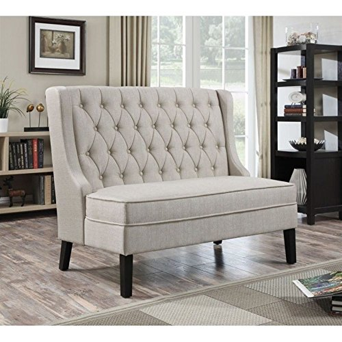 Pulaski Sidney Settee, Oatmeal (Seating Kitchen Banquette)