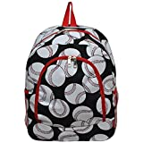 Children's School Backpack 2 (Baseball Red)